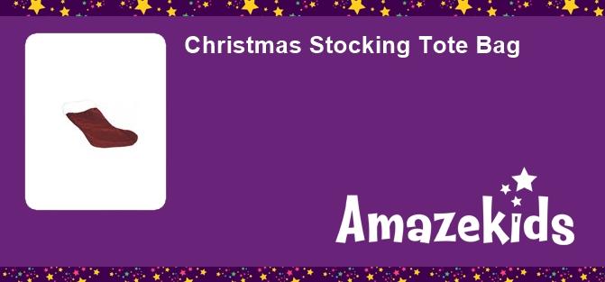 Christmas Stocking Tote Bag