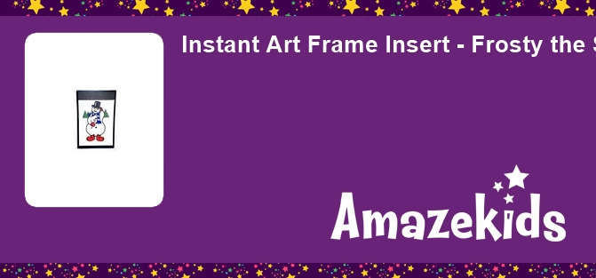 Instant Art Frame Insert - Frosty the Snowman