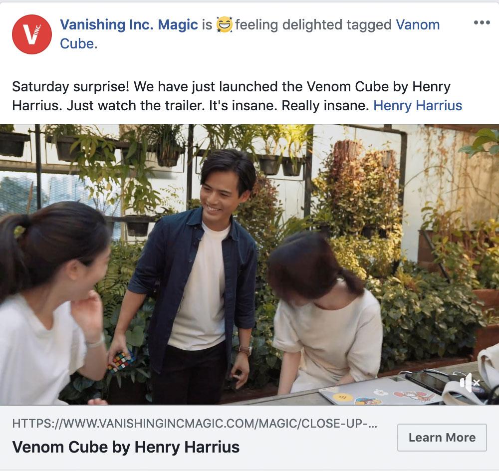Vanishing Inc. Facebook