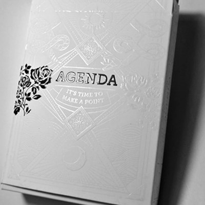 Agenda White Playing Cards