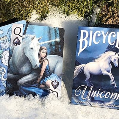 Anne Stokes Unicorns Bicycle Playing Car…