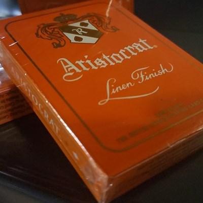 Aristocrat Orange Playing Cards