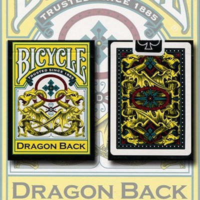 Bicycle Dragon Back Playing Cards (Yello…