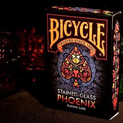 Bicycle Stained Glass Phoenix Playing Ca…