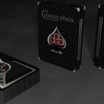 Chrome Kings Carbon Playing Cards