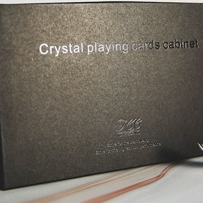Crystal Playing Cards Cabinet