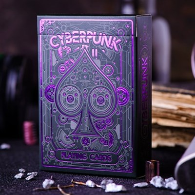 Cyberpunk Purple Playing Cards