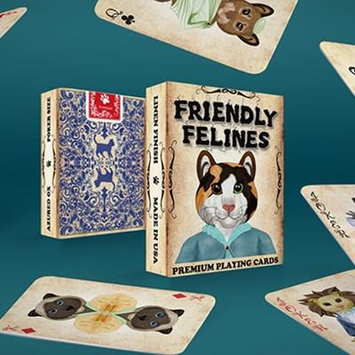 Friendly Feline Playing Cards