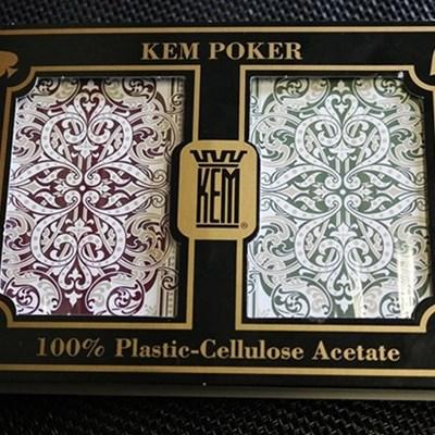 KEM Bridge Plastic Playing Cards - Jumbo…