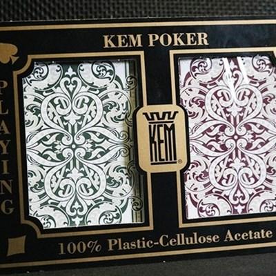 KEM Poker Plastic Playing Cards - Standa…
