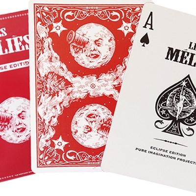 Les Méliés Red Eclipse Playing Card