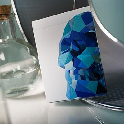 Blue Memento Mori Playing Cards