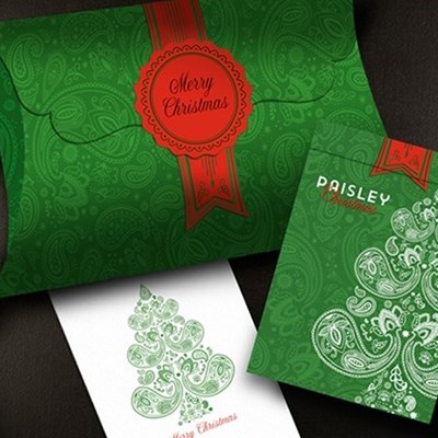 Paisley Metallic Green Playing Cards (Ch…