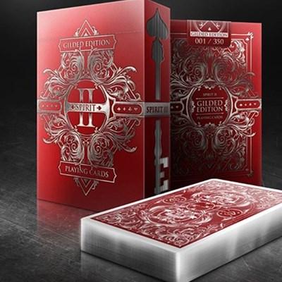 Spirit II MetalLux Red  Playing Cards