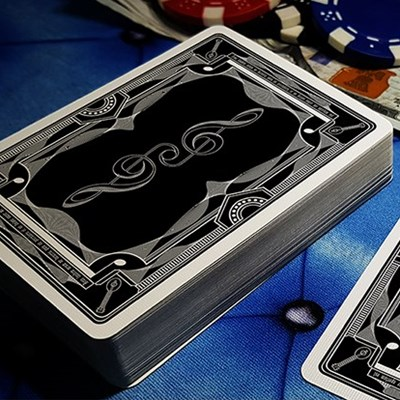 Treble Clef  Playing Cards - Black