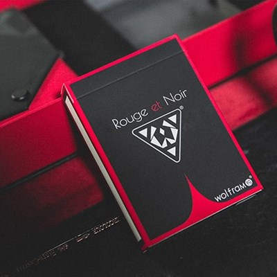Wolfram V2 Rouge et Noir Playing Cards C…