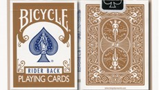 Bicycle Brown Playing Cards