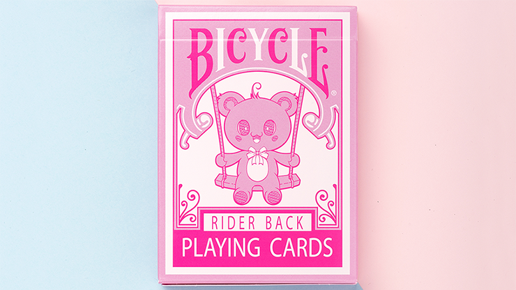 Bicycle Lovely Bear Cards - Pink