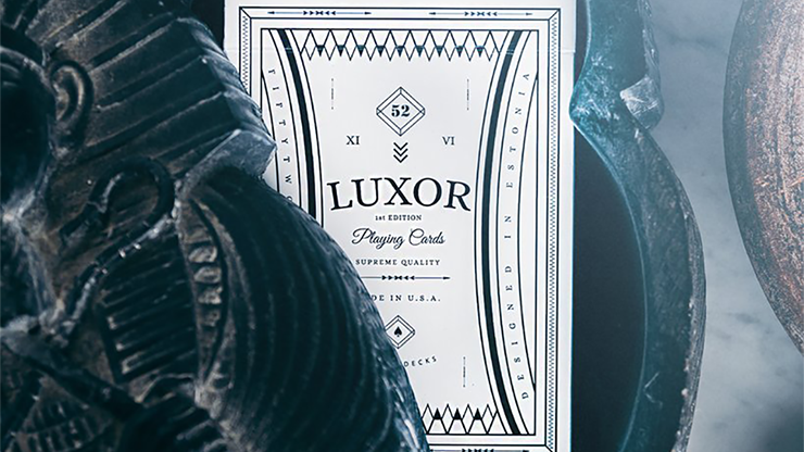Limited Edition White Luxor Playing