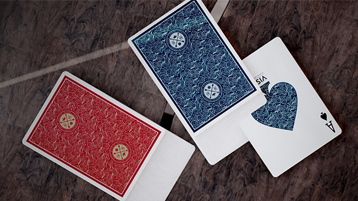 Visa Red Playing Cards