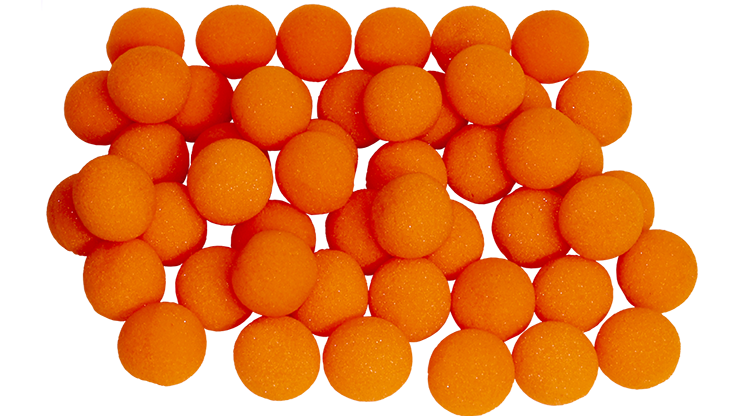"1"" Super Soft Sponge Ball (Orange) Bag of 50 from Magic By Gosh - magic"