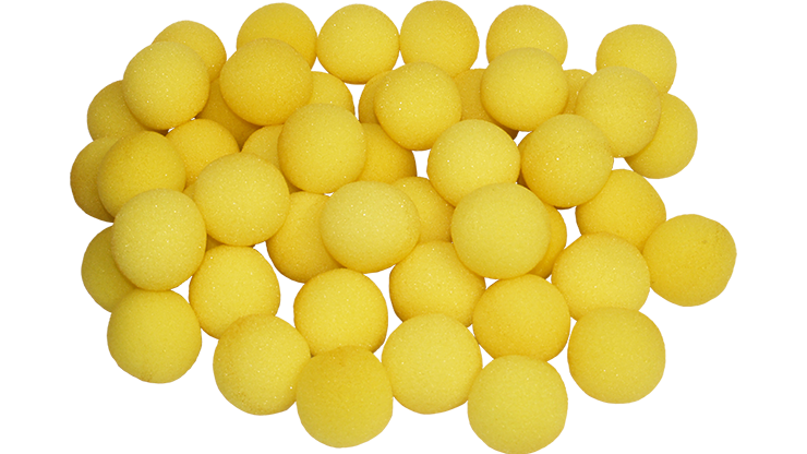 "1"" Super Soft Sponge Ball (Yellow) Bag of 50 from Magic By Gosh - magic"