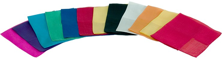 "12"" Silks - 12 Pack (Assorted) - magic"