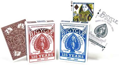 Bicycle 125 Year Anniversary Playing Cards (6 Pack) - magic