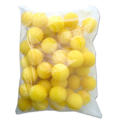 "1.5"" 50 Super Soft Sponge Balls (Yellow) - magic"