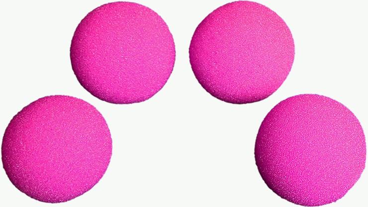 1.5 inch HD Ultra Soft  Hot Pink Sponge Ball Set from Magic - magic