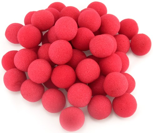 "1.5"" Sponge Balls Red (50 pack) - magic"