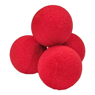 "2"" Ultra Soft Sponge Balls (Red) - magic"