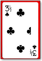 3 1/2 Clubs Card - magic