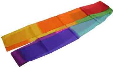 "4""x 3m Multicolor Silk Streamer - magic"