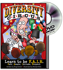 Diversity Circus Graphic Novel and DVD - magic