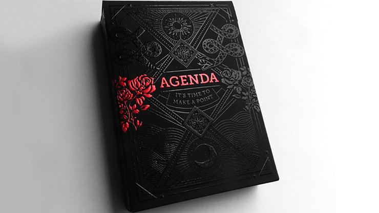 Agenda Black Playing Cards - magic