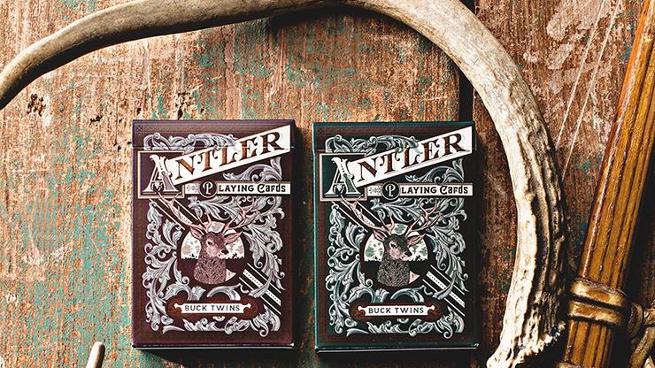 Antler Playing Cards (Green) - magic