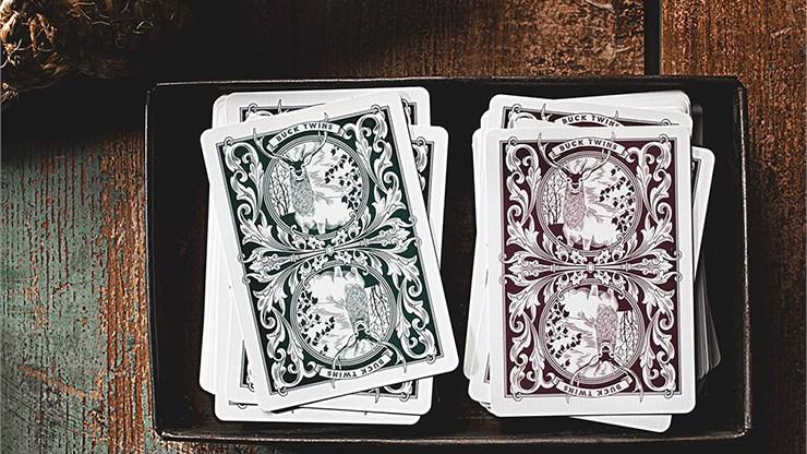Antler Playing Cards (Maroon) - magic
