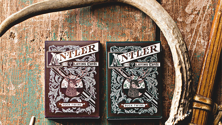 Antler Playing Cards (Maroon) - magic