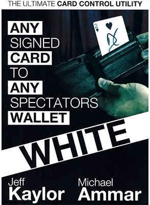 Any Card to Any Spectator's Wallet - WHITE   - magic