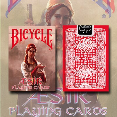 Bicycle AEsir Viking Gods Playing Cards - Red - magic