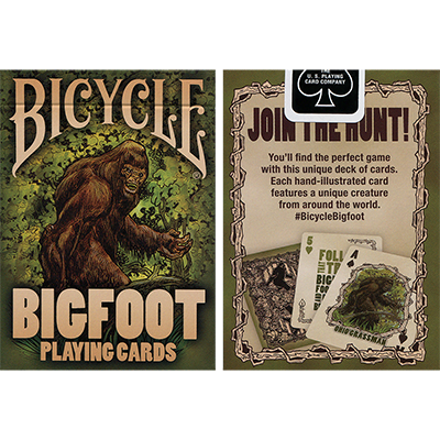 Bicycle Bigfoot Playing Cards - magic