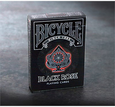 Bicycle Black Rose Playing Cards - magic