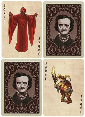 Bicycle Edgar Allan Poe Playing Cards - magic
