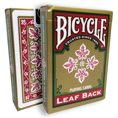 Bicycle Leaf Back Deck (Red) - magic
