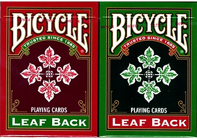 Bicycle Leaf Back Holiday Playing Cards - magic