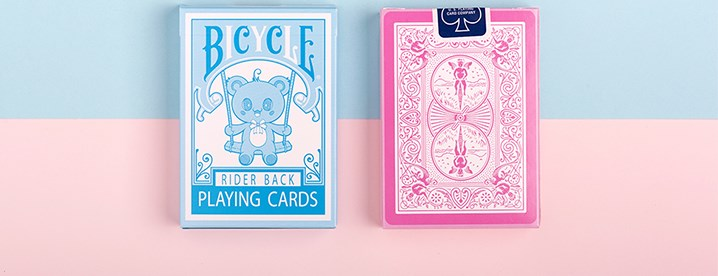 Bicycle Lovely Bear Cards - Pink - magic
