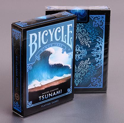 """Bicycle Natural Disasters """"Tsunami"""" Playing Cards - magic"""