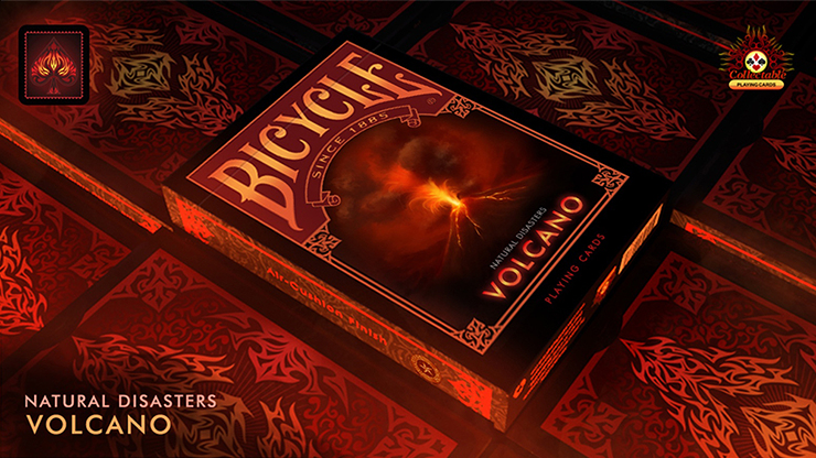 "Bicycle Natural Disasters ""Volcano"" Playing Cards - magic"