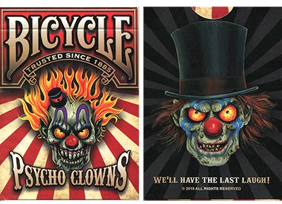 Bicycle Psycho Clowns Playing Card - magic